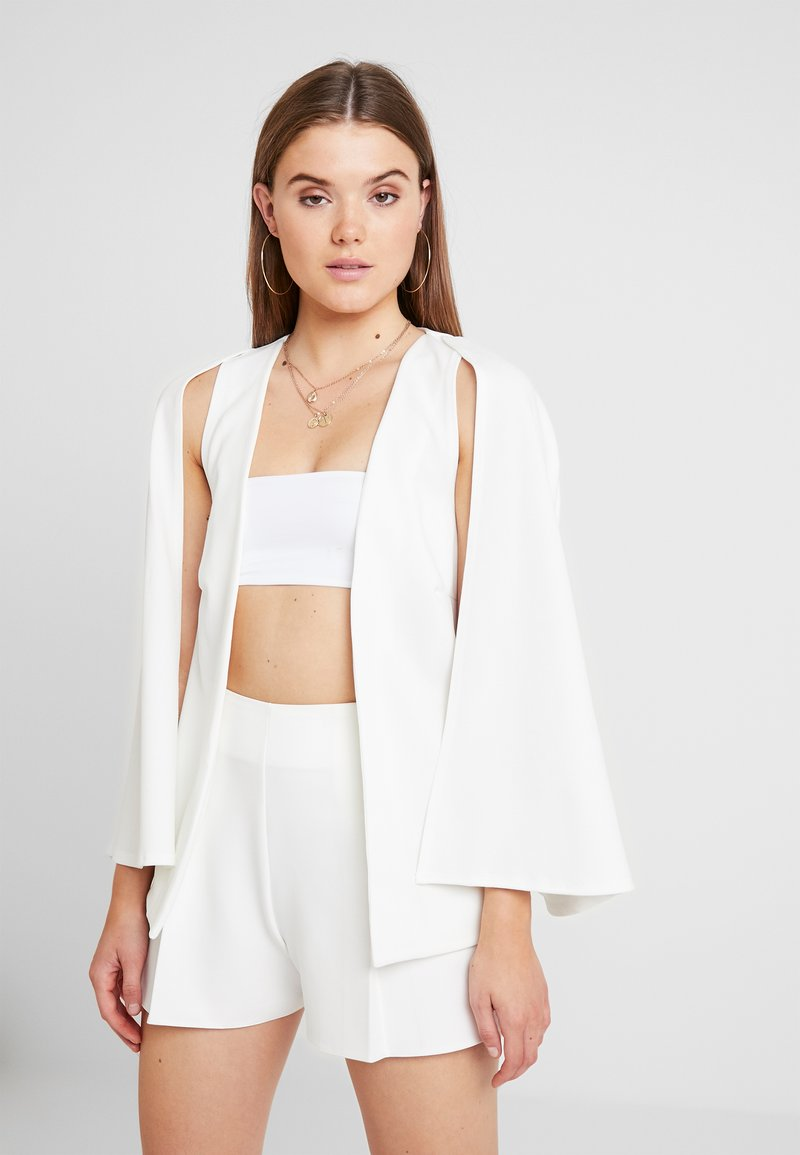 Missguided - STRETCH BLAZER - Cape - white