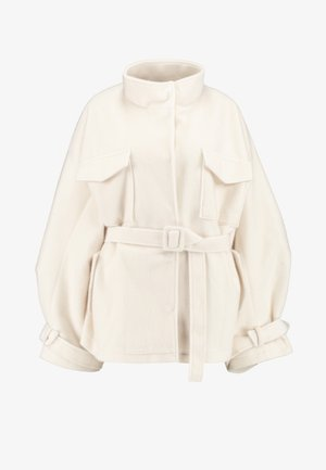 BELTED UTILITY  COAT - Lehká bunda - cream