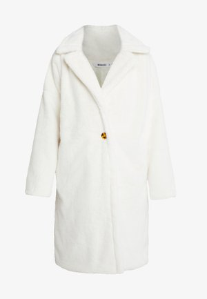 LONG LINE SHORT FUR COAT - Classic coat - white