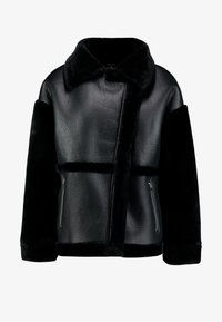 Missguided - SLEEVE AVIATOR - Faux leather jacket - black - 4