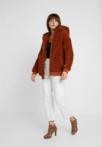 Missguided - HOODED ZIP THROUGH COAY - Mantel - rust - 1