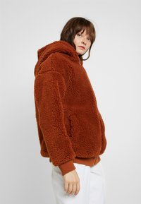 Missguided - HOODED ZIP THROUGH COAY - Mantel - rust - 4