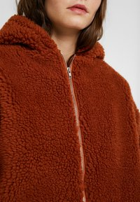 Missguided - HOODED ZIP THROUGH COAY - Mantel - rust - 6