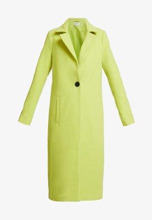 SINGLE BUTTON FRONT COAT - Płaszcz wełniany /Płaszcz klasyczny - neon lime