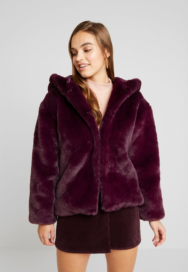 SUPERSOFT HOODED COAT - Winter jacket - purple