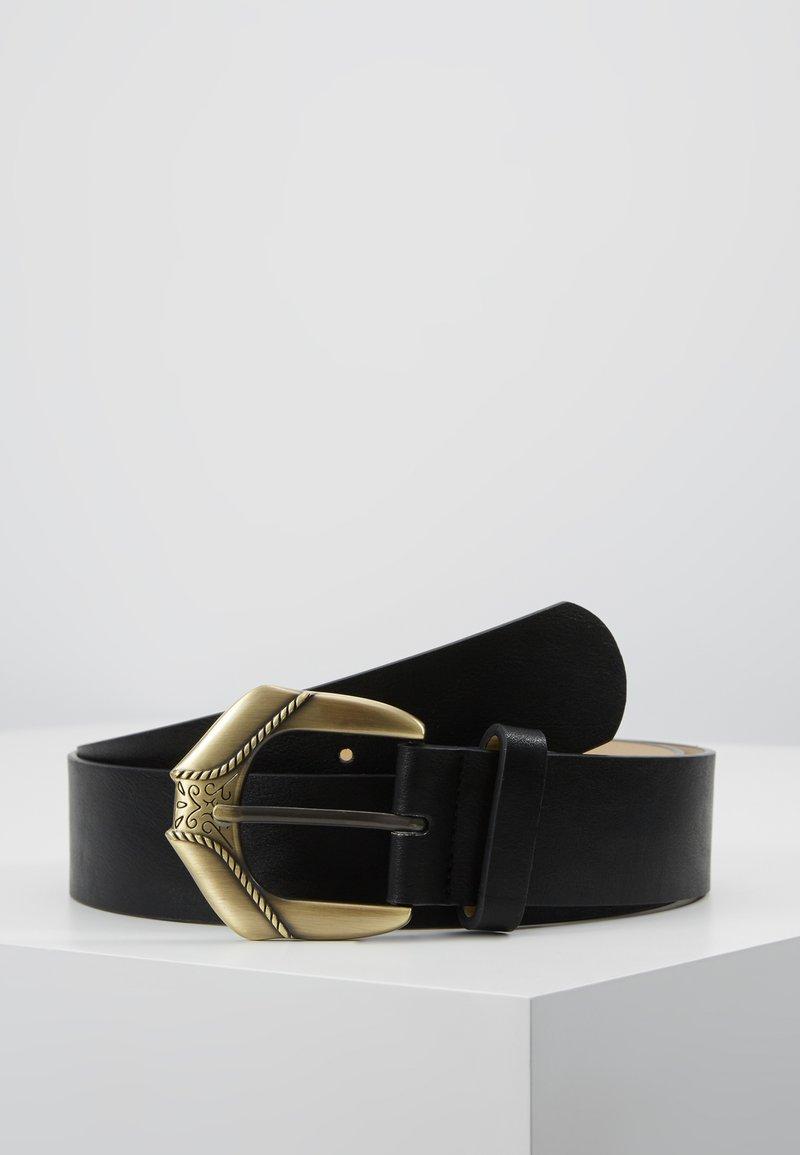 Missguided - BUCKLE EXTREME WESTERN BELT - Belt - black