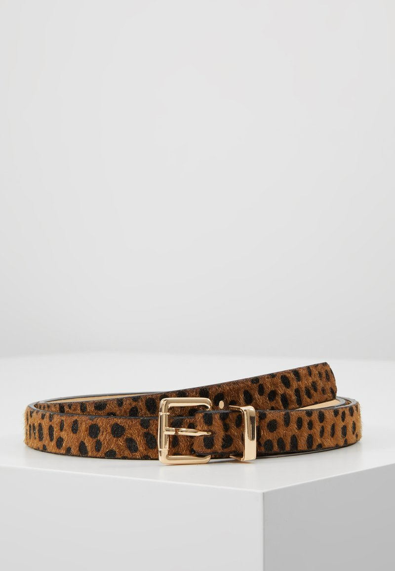 Missguided - LEOPARD BELT - Cinturón - brown