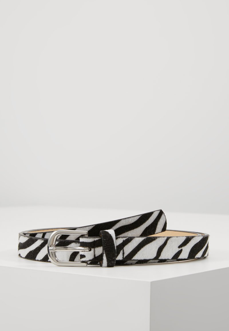 Missguided - PONYSKIN ZEBRA BELT - Skärp - black