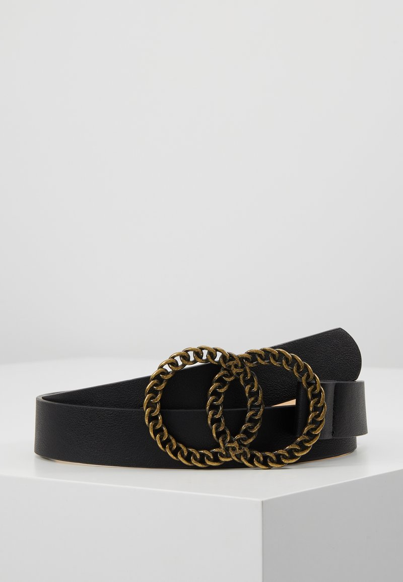 Missguided - TWISTED DOUBLE RING BUCKLE BELT - Belt - black