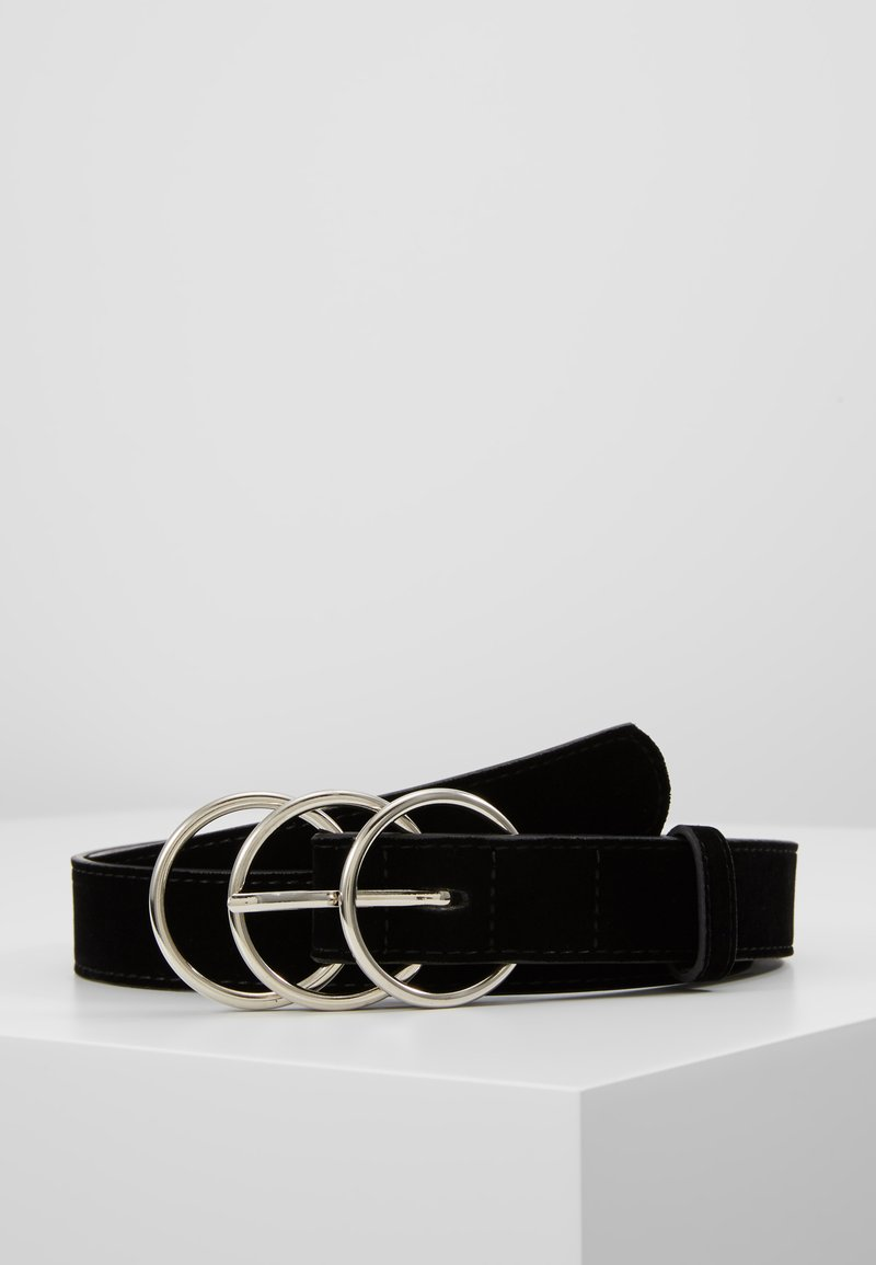 Missguided - TRIPLE RING BUCKLE BELT - Cintura - black