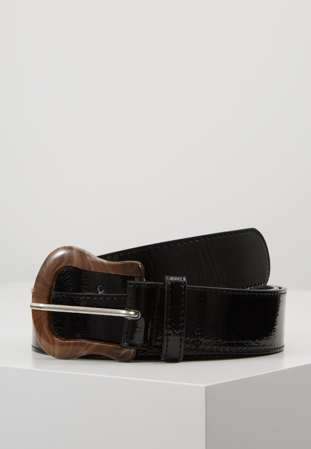 BUCKLE DETAIL BELT - Gürtel - black