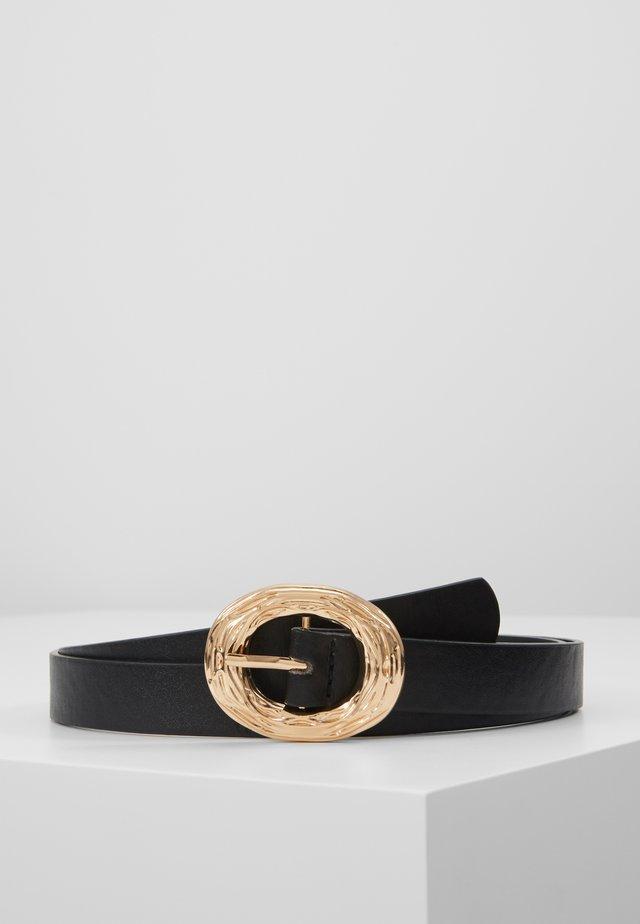 ABSTRACT CRINKLE BUCKLE TROPICAL TIGER BELT - Belt - black