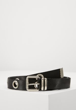 XL EYELET DETAIL BELT - Gürtel - black