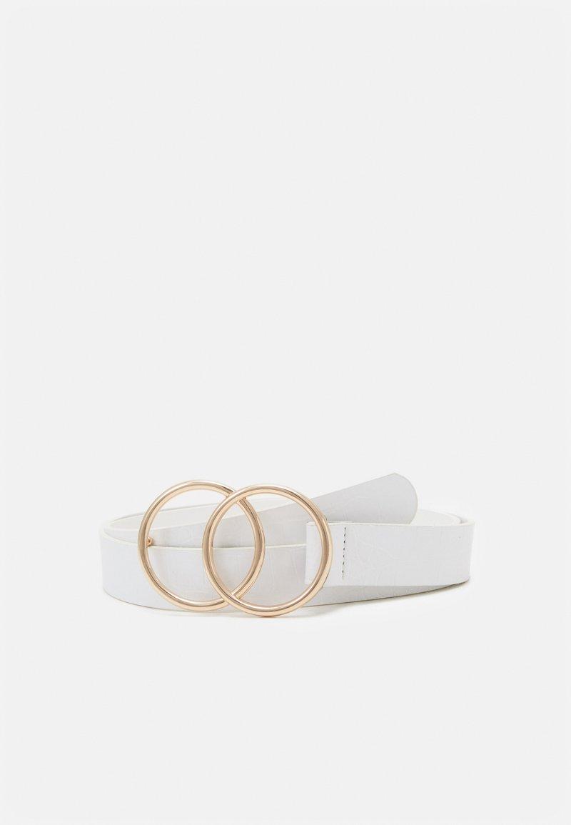 Missguided - CROC DOUBLE RING BELT - Ceinture - white