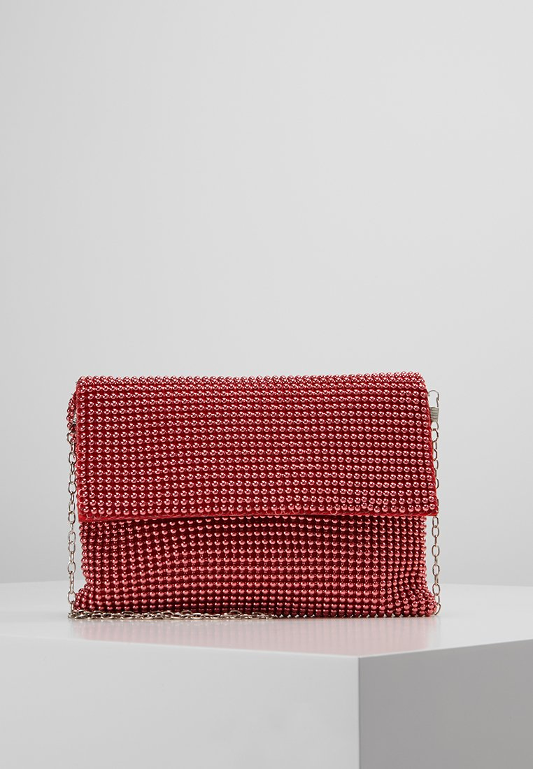 Missguided - CIRCULAR CHAINMAIL FOLD OVER - Pochette - red