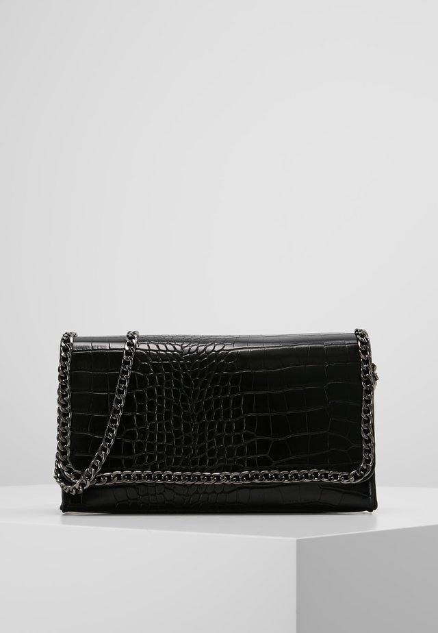 CHAIN TRIM CROC CROSS BODY BAG  - Umhängetasche - black