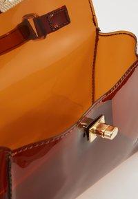 Missguided - TRANSPARENT MINI HANBAG - Handbag - brown - 4