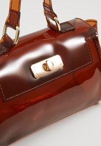 Missguided - TRANSPARENT MINI HANBAG - Handbag - brown - 6