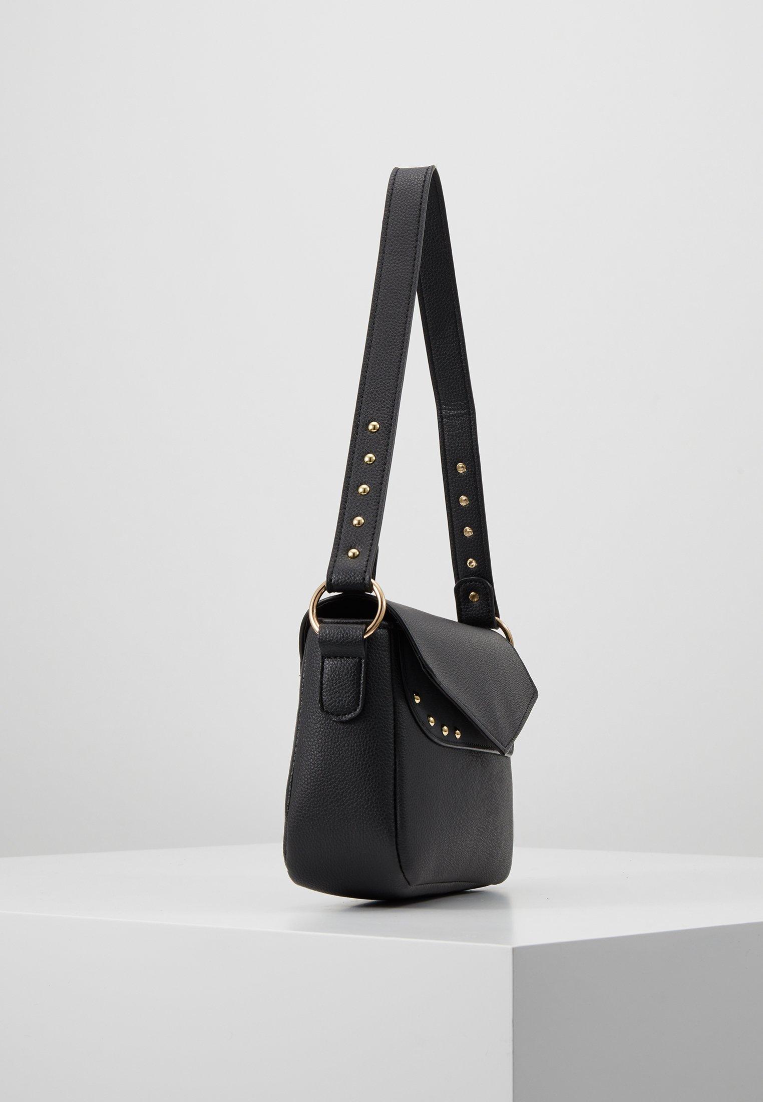 Missguided STUD DETAIL SHOULDER BAG Håndveske black