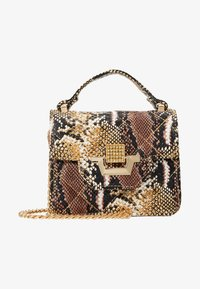 Missguided - MINI QUILTED SNAKE HANDBAG - Handtas - brown - 5