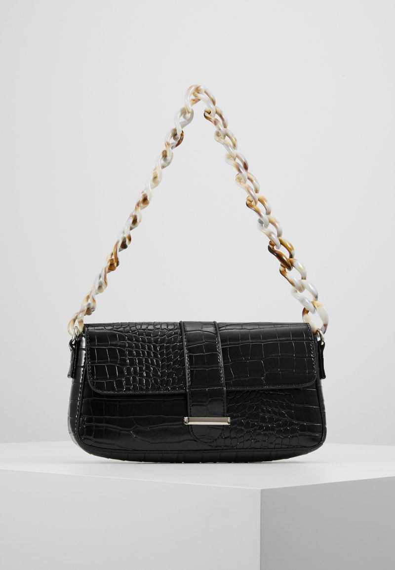 Missguided - HANDLE CROC DETAIL HANDBAG - Sac à main - black