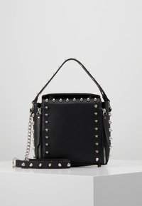 Missguided - STUD DETAIL CROSS BODY BOX BAG - Handbag - black - 0