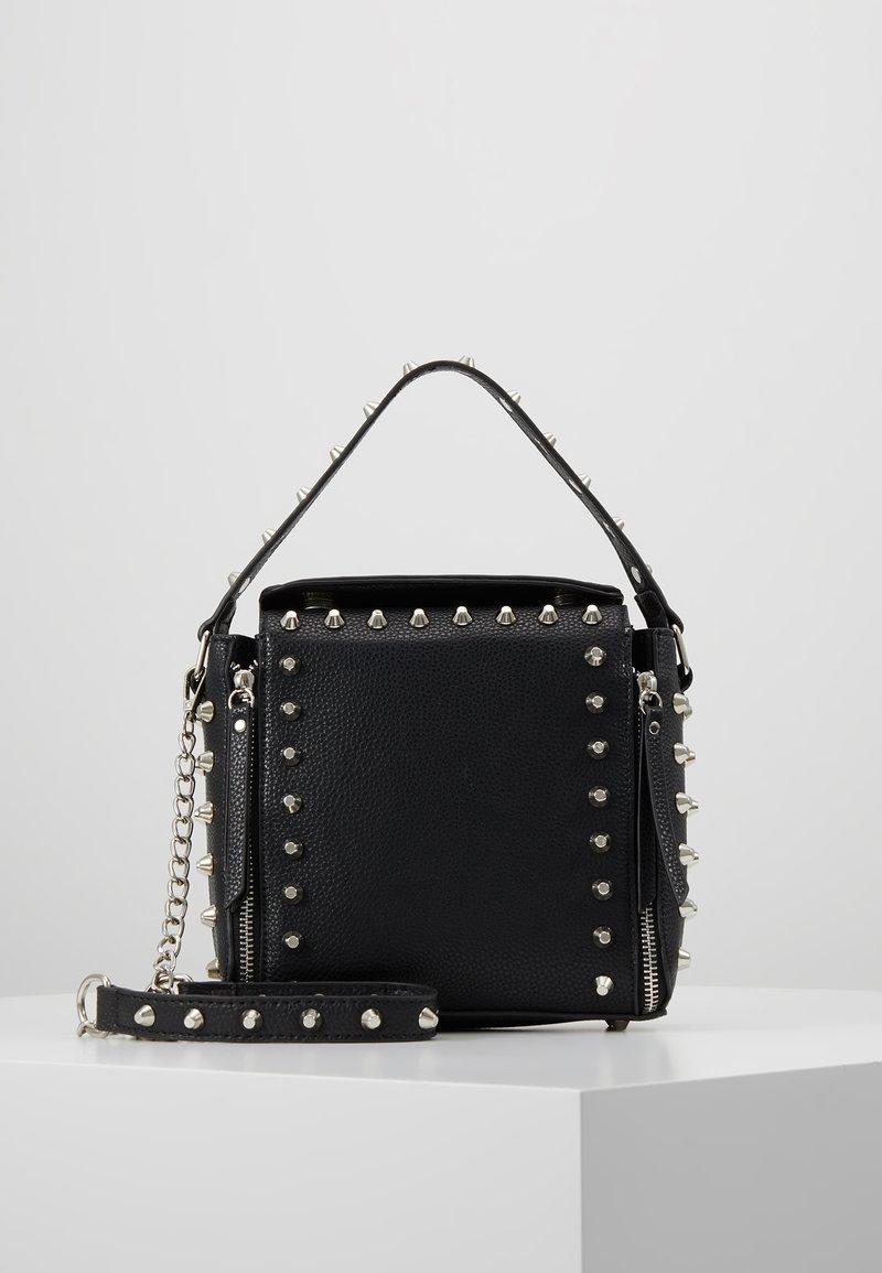 Missguided - STUD DETAIL CROSS BODY BOX BAG - Handbag - black