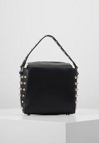 Missguided - STUD DETAIL CROSS BODY BOX BAG - Handbag - black - 2