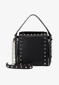 Missguided - STUD DETAIL CROSS BODY BOX BAG - Handbag - black - 5