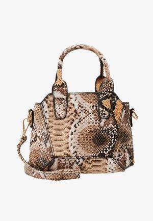 MINI SNAKE HANDBAG - Handbag - brown