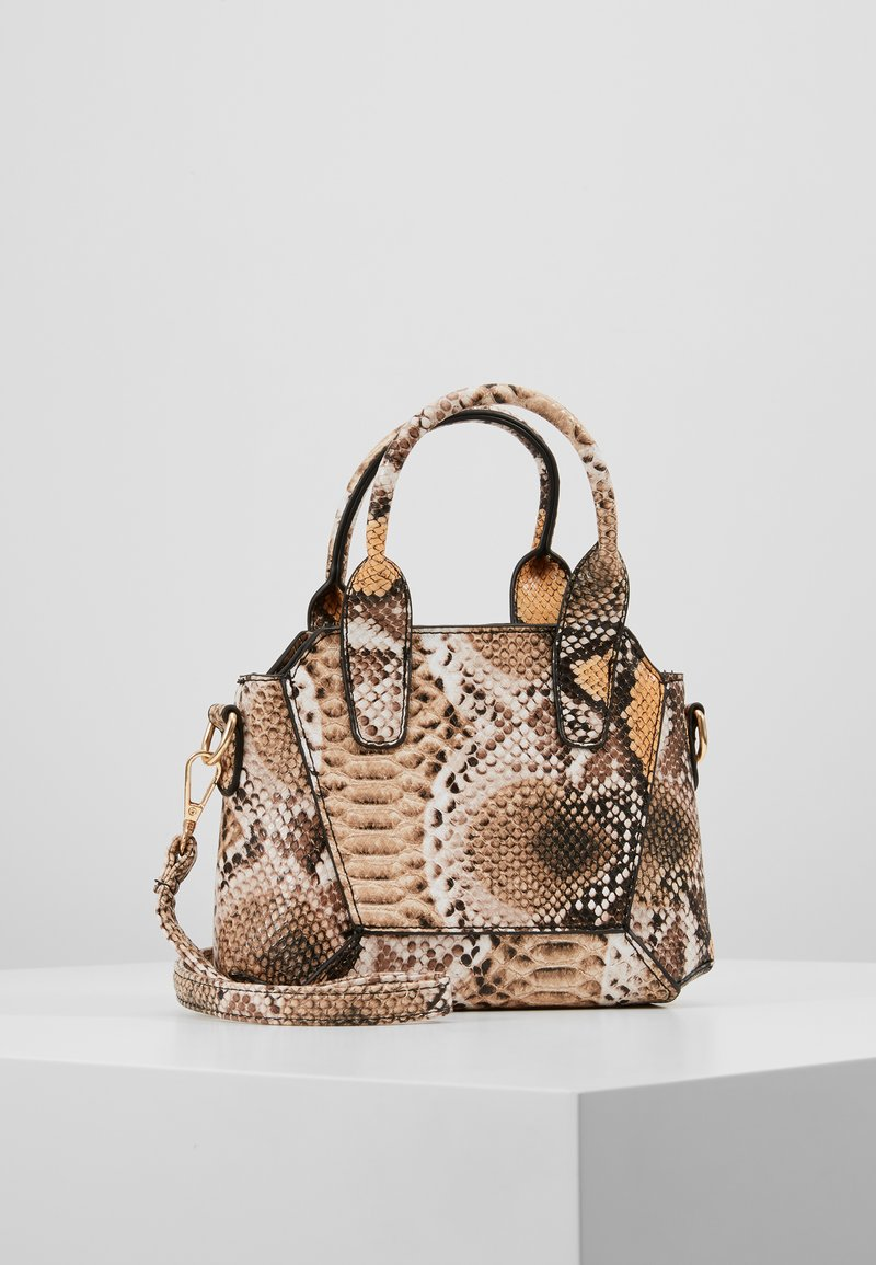 Missguided - MINI SNAKE HANDBAG - Kabelka - brown