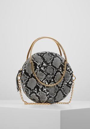 ROUND SNAKE CROSS BODY BAG - Handtas - grey