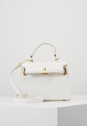 MINI CROC HANDBAG - Handbag - white