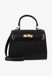 Missguided - CLASP DETAIL CROSS BODY HANDBAG MINI HANDBAG - Handtas - black - 5