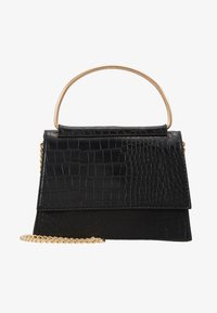 Missguided - BAR DETAIL SNAKE CHAIN BOXY HANDBAG - Torebka - black - 1