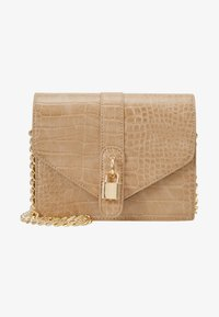 Missguided - PADLOCK DETAIL CROC CROSS BODY BAG - Schoudertas - nude - 5