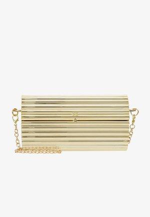 HARD CASE CROSS BODY BAG - Clutch - gold-coloured