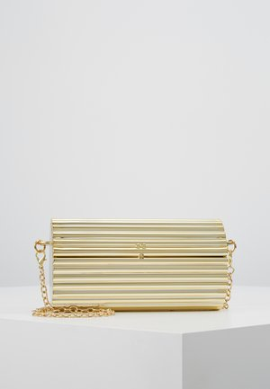HARD CASE CROSS BODY BAG - Clutch - gold-coloured