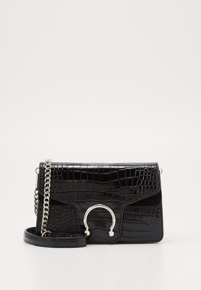 CROC DETAIL MINI CROS BODY BAG - Umhängetasche - black