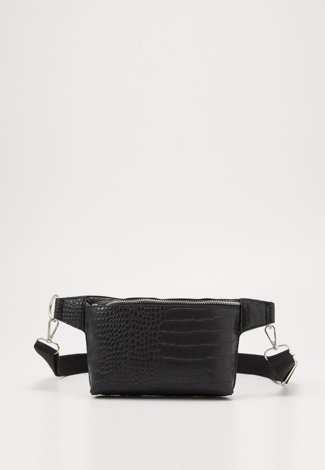 CROC DETAIL STRUCTURED BUMBAG - Gürteltasche - black