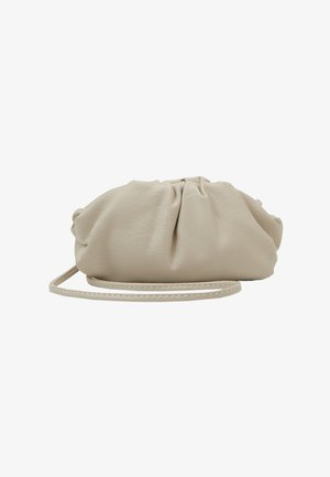 MINI POUCH BAG WITH CROSS BODY STRAP - Bandolera - stone