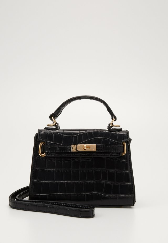 MINI CROC HANDBAG - Handtasche - black