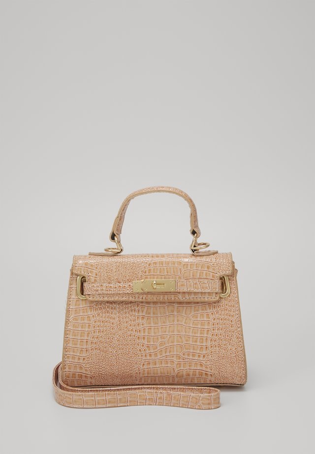 MINI CROC BAG - Handtas - taupe