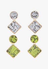 Missguided - SNAKE INLAY DROP 2 PACK - Boucles d'oreilles - green/grey - 3