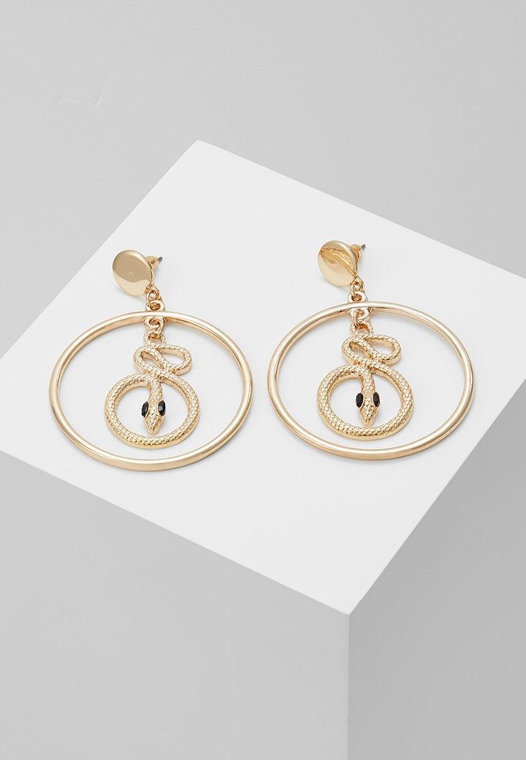 Missguided - SNAKE INSERT HOOP - Boucles d'oreilles - gold-coloured