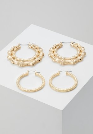 CHUNKY BAMBOO 2 PACK - Boucles d'oreilles - gold-coloured