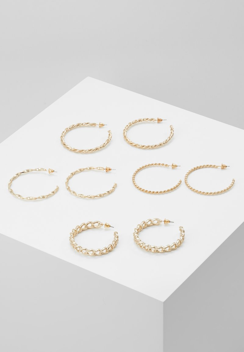 Missguided - CHAIN HOOP 4 PACK - Earrings - gold-coloured