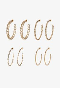 Missguided - CHAIN HOOP 4 PACK - Earrings - gold-coloured - 3