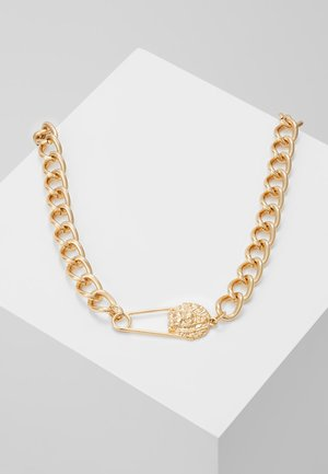 LION SAFETY PINK CHUNKY NECKLACE - Halsband - gold-coloured