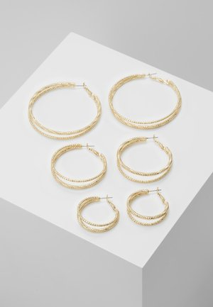 DOUBLE HOOP 3 PACK - Pendientes - gold-coloured